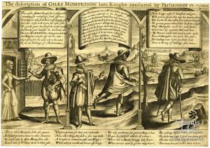 Satirical engraving regarding Sir Giles Mompesson, 1621