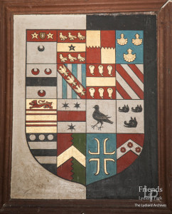 Hatchment for Anne Leighton, St. Mary's Lydiard Tregoze, 1628