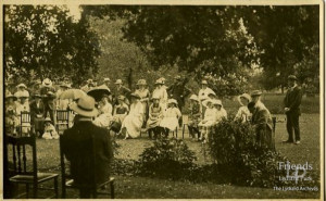 Photograph of Garden Party at Lydiard Park, early 20th Century