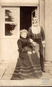 Photograph of Mary (Howard) 5th Viscountess Bolingbroke with Henry St. John c1914