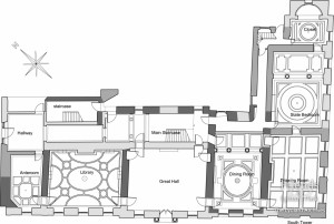 Architectural plan of building phases, Lydiard House