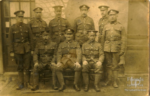 Photograph of group of soldiers in France, World War I