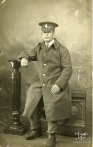 Photographs (4) of Ernest Titcombe in uniform, World War I