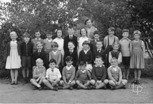 Photograph of Mrs Coleman & pupils of Hook School, c196O's