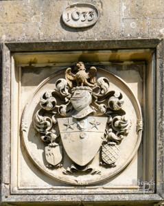 Coat of Arms of Sir John St.John, 1st Bart., St. Mary's Lydiard Tregoze, 1633