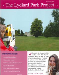 Lydiard Park Project newsletter,  Summer 2003