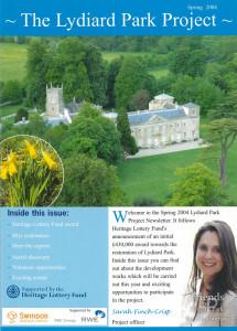 Lydiard Park Project newsletter,  Spring 2004