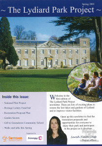 Lydiard Park Project newsletter, Spring 2003