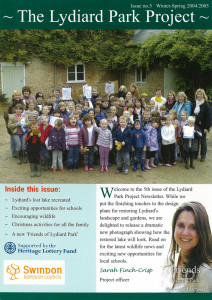 The Lydiard Park Project newsletter,  Winter-Spring 2004/5
