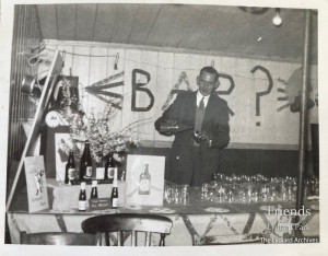 Photograph of the social club, Lydiard camp, 1950's
