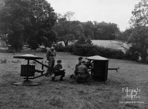 Photograph of Home Guard training at Lydiard Park, World War II