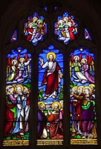Victorian west window, St. Mary's Lydiard Tregoze