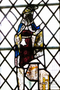 Medieval glass at St. Mary's Lydiard Tregoze: Miscellaneous fragments
