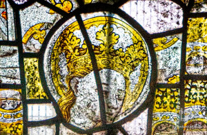 Medieval glass at St. Mary's Lydiard Tregoze: Virgin Mary