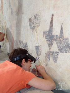 Photographs of St. Christopher wallpainting conservation, 2019-2020