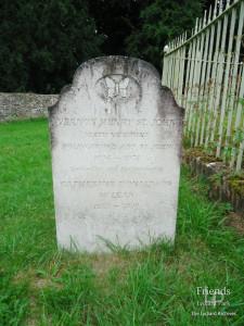 Gravestone for Vernon St. John, 6th Viscount Bolingbroke, 1974