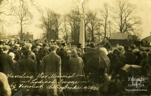 Photograph of unveiling of War Memorial at Lydiard Tregoze, 1920