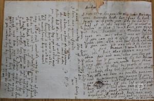 Letter from Johanna St. John to Thomas Hardyman, 13th March 1661