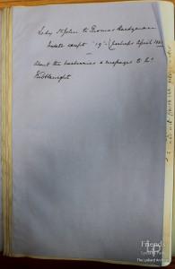 Letter from Lady Johanna St. John to Thomas Hardyman c April 1661