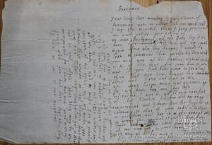 Letter from Lady Johanna St. John to Thomas Hardyman, c1661
