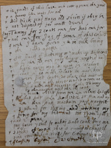 List of items and instructions from Lady Johanna St. John, c1660