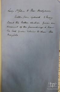 Letter from Lady Johanna St. John to Thomas Hardyman 2nd May C1661