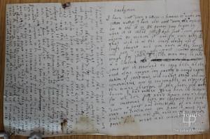 Letter from Lady Johanna St. John to Thomas Hardyman re political unrest