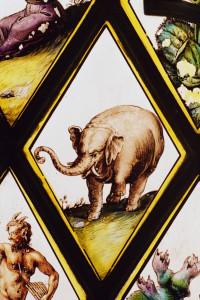 Painted window by Abraham Van Linge, 1630