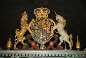Royal Coat of Arms, St. Mary's Lydiard Tregoze, c1660