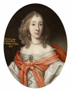 Johanna St John (1631-1705), wife of Sir Walter St John, 3rd Bt by John Michael Wright