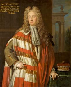 Henry St John (1678-1751) 1st Viscount Bolingbroke, Secretary of State to Queen Anne