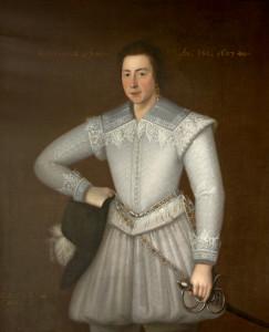 Sir John St John (c.1585-1648), aged 17 (later 1st Bt)