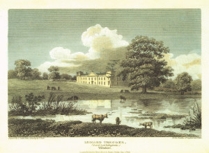 Engraving of Lydiard House by Frederick Nash, c1808