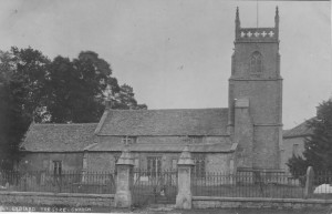 Postcard of St. Mary's Lydiard Tregoze by William Hooper, 1908